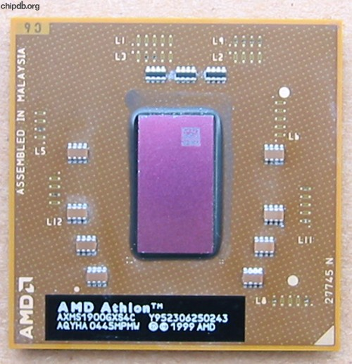 AMD Athlon Mobile XP-M 1900+ AXMS1900GXS4C AQYHA