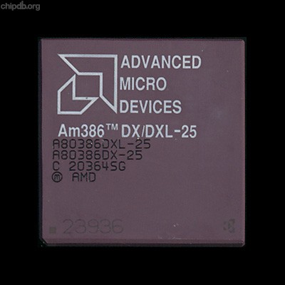 AMD A80386DX/DXL-25 rev C