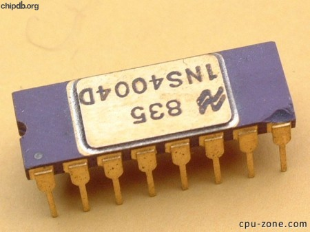 National Semiconductor INS4004D upside down 7835