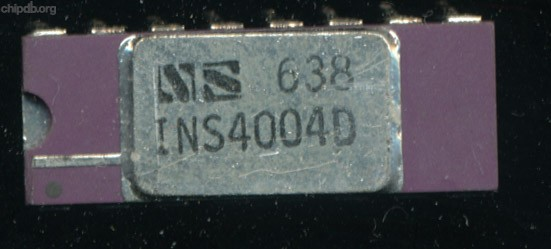 National Semiconductor INS4004D silver lid