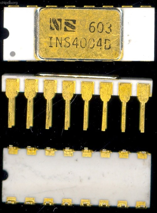 National Semiconductor INS4004D white