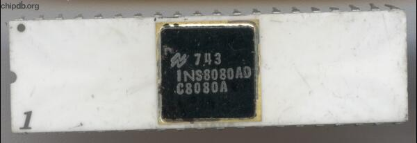 National Semiconductor INS8080AD C8080A white black cap