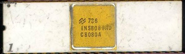National Semiconductor INS8080AD C8080A white gold cap