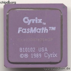 Cyrix CX-83D87-25-GP