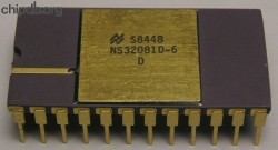 National Semiconductor NS32081D-6