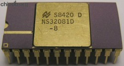 National Semiconductor NS32081D-8