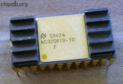 National Semiconductor NS32081-10