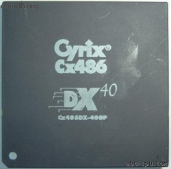 Cyrix CX486DX-40GP whitedot