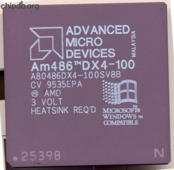 AMD A80486DX4-100SV8B diff Windows logo
