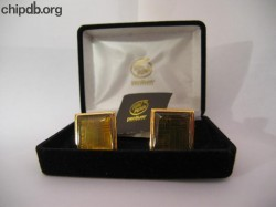 Intel cuff links with Pentium 60 dies