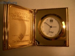 Intel clock 4004 25th anniversary