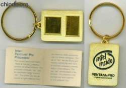 Intel Keychain Pentium Pro with card
