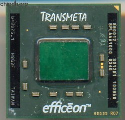 Transmeta Efficeon TM8600 860012 old logo