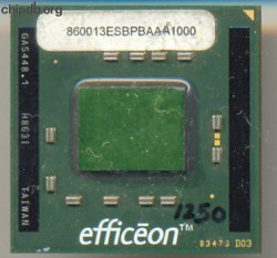 Transmeta Efficeon TM8600 13 ES