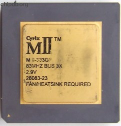 Cyrix MII-333GP 83 MHz bus small logo