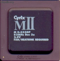 Cyrix MII-333GP blacktop