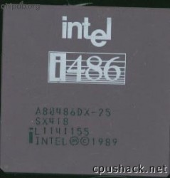 Intel A80486DX-25 SX418 no DX logo