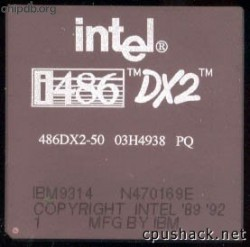 Intel 486DX2-50 03H4938 IBM part numbers