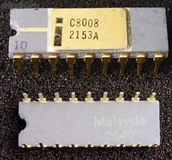 Intel 8008 10 as pin 1 marker