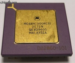 Motorola MC68HC000RC10 four rows