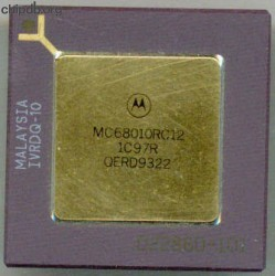 Motorola MC68010RC12 three rows text
