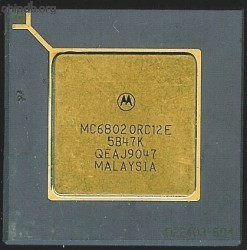 Motorola MC68020RC12E four rows text