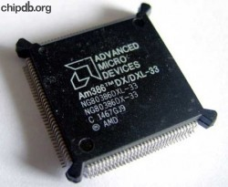 AMD - 386 - 33 - chipdb.org