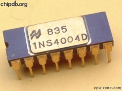 National Semiconductor INS4004D printed 1NS4004D 7835