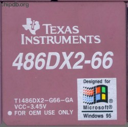 Texas Instruments TI486DX2-G66-GA diff win logo