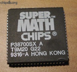 Chips & Technologies P38700SX A no speed