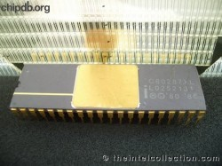 Intel C80287XL no logo