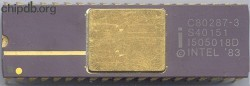 Intel C80287-3 Yellow circle  Pin 1
