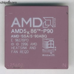 AMD AMD-SSA/5-90ABQ with N in corner