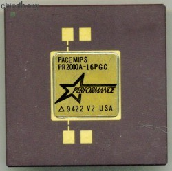Performance Semiconductor PACEMIPS PR2000A-16PGC diff print